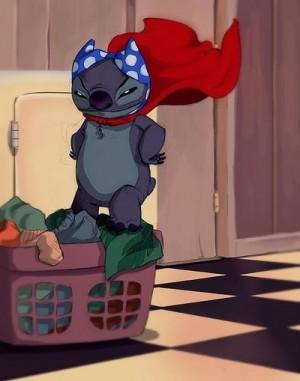 ... , cute, disney, funny, lilo and stitch, polkadot, stitch, superhero
