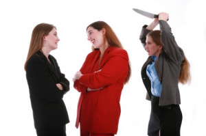 The person who backstabs you at work