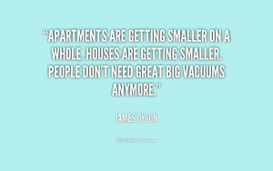 Apartments are getting smaller on a whole. Houses are getting smaller ...