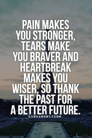 thank the past for a better future