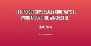 found out some really cool ways to swing around the Winchester ...