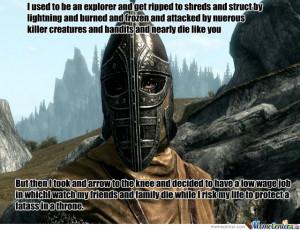 Skyrim Guard Logic