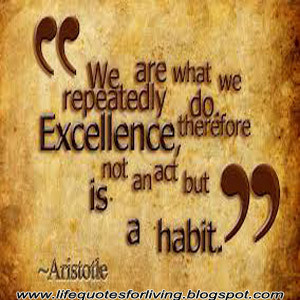 We are what we repeatedly do therefore excellence is not an act but ...