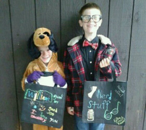 Halloween 2012 - William the Dog and Nathan the Nerd!