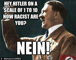 ... on a scale of 1 to 10 how racist are you? NEiN! Angry Hitler Quotes