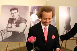 Richard Simmons Fitness guru Richard Simmons is seen near photos of ...