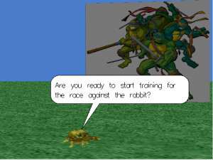 clicking on the ninja turtles and having the turtle flip or roll based ...