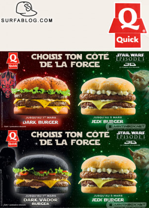 QUICK FAST FOOD LANCIA I PANINI DI STAR WARS
