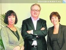 Peter Ruijzendaal en Marike Hoekstra Peter Boelens ontbreekt op de