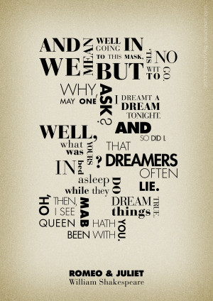 Romeo and Juliet Quotes Poster by YukoTVXQ