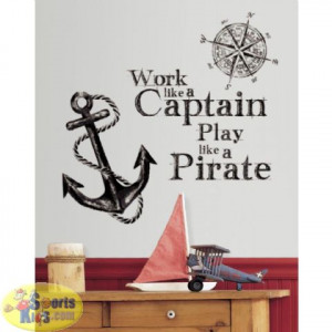These removable quote wall decals urge you to work like a captain but ...