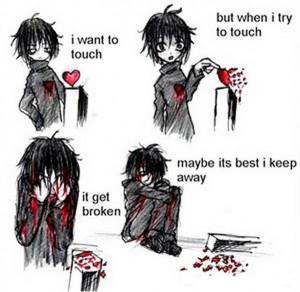 emo love heart broken