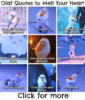 Frozen Movie Olaf Quotes Olaf quotes from frozen to