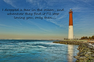 Barnegat Lighthouse Inspirational Quote Photograph