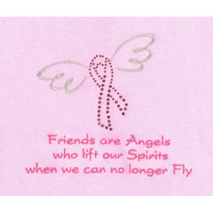 Breast Cancer Awareness Shirt With Friends Lift Spirits Quote