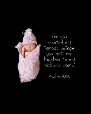 So… so… perfect. The scripture… and that sweet baby girl with ...