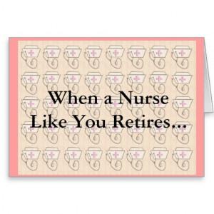 Funny Nurse Retirement Card