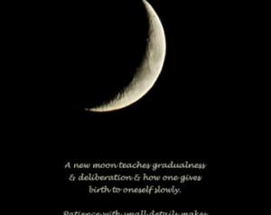 Rumi quote, A new moon, Moon photog raph, crescent moon, silver moon ...