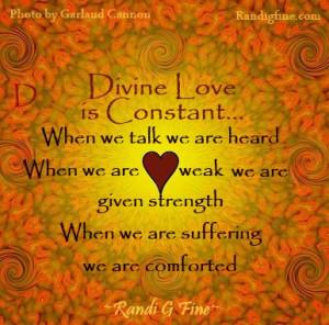 Divine Love Picture Quote