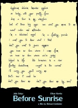 Milkshakes (Poema de Before Sunrise)