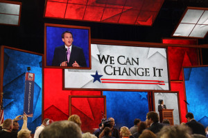 The Debt clock displayed at the convention!