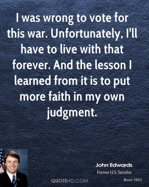 John Edwards Faith Quotes