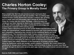 ... Glass- Self ' was a theory which was created by Charles H. Cooley
