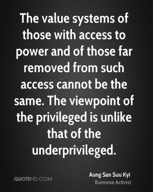 The value systems of those with access to power and of those far ...