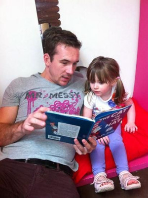 Barry Sloane and his daughter, GracieBarry Sloane