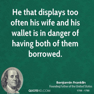 Ben Franklin And His Wife
