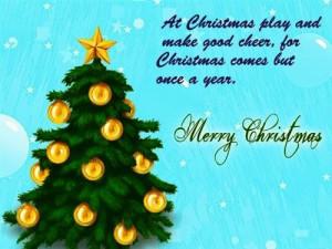 At Christmas play and make good cheer for Christmas comes but once a ...