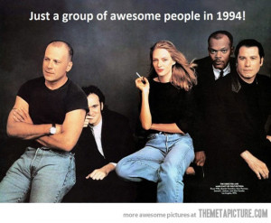 Funny photos funny Pulp Fiction cast Quentin Tarantino