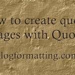 How to create quotes images with Quozio