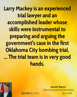 Larry Mackey is an experienced trial lawyer and an accomplished leader ...