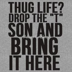 HUG LIFE vs THUG LIFE | T-Shirt