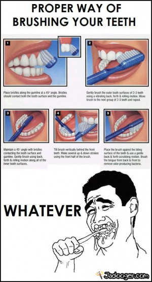 Proper way of brushing your teeth!