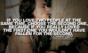 johnny depp, love, quote, the notebook