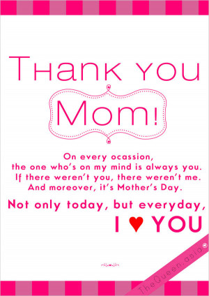 Thank You Mom Quotes Happy-mothers' day thank you