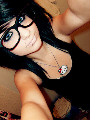 scene gurl wearing glasses