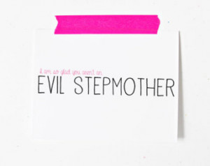 Step mom mothers day greeting card stepmother I am so glad you arent ...