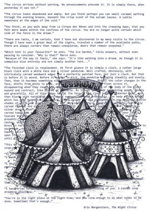 The Night Circus on Book Quotes Print on Etsy, £12.00