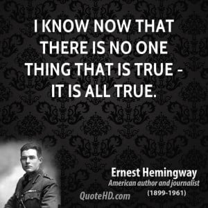 quotes about friendship by ernest hemingway
