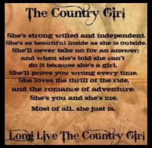 Country girl quotes (: