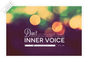 Listen to your inner voice quote