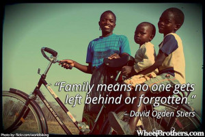No One Gets Left Behind Means Family Quote