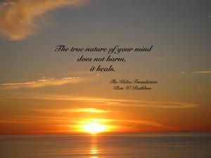 The mind heals