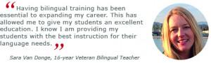 Interview with Sara Van Donge, 16-year Veteran Bilingual Teacher and ...