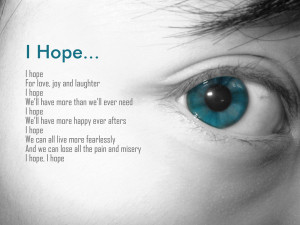 Story of Hope - Author Unknown