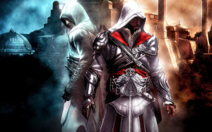 Altair and Ezio Auditore Da Firenze by AndyBsGlove
