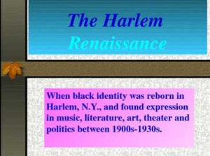 Great Migration Harlem Renaissance